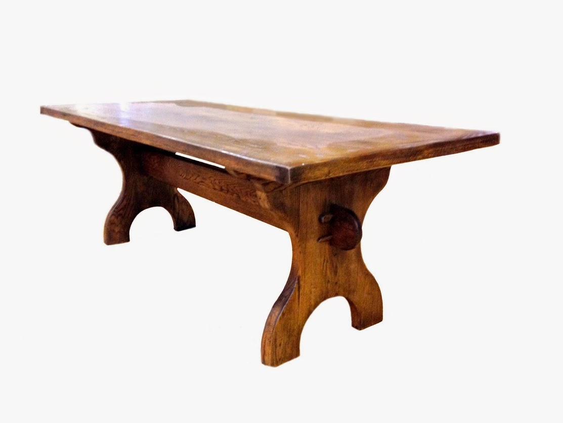 old english trestle table